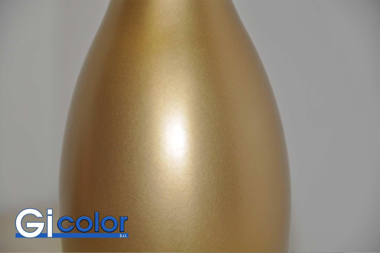 Verniciatura bottiglie effetto oro goldlook